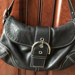 Coach Soho Black Leather Purse